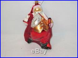Christoper Radko Christmas Saks 5th Ave. Santa Calls Limited Ornament MIB