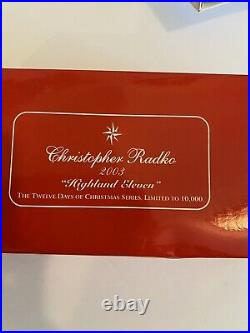 Christopher Radko 12 Days Of Christmas Ornament 11 Pipers Piping Mint In Box