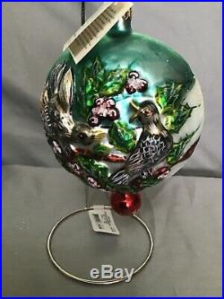 Christopher Radko 12 Days Of Christmas Ornaments Set In Boxes 1-11