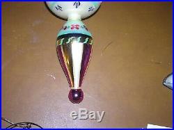 Christopher Radko 13 Blue Danube Triple Indent Drop Ornament