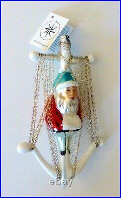 Christopher Radko 1993 ANCHOR SANTA Christmas Ornament. Poland. RARE