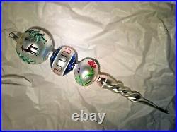 Christopher Radko 1993 DEER DROP Triple Ball Icicle vintage ornament 93-304