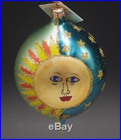 Christopher Radko 1996 Copernicus Moon Sun Teardrop Christmas Ornament Mwt