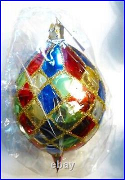 Christopher Radko 1996 HARLEQUIN TEARDROP Christmas Ornament. Poland