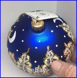 Christopher Radko 1996 WINTER SERIES Blown Glass Ball Christmas Ornament NEW