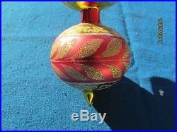 Christopher Radko 1997 3 Tier Ball Corinthian Blown Glass Ornament 13 1/2 Italy
