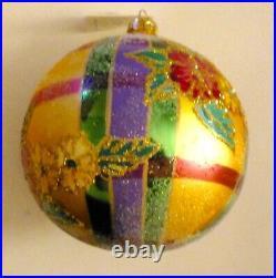 Christopher Radko 1997 MADRAS MAGIC Large Ball Christmas Ornament Italy. SCARCE