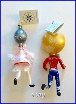 Christopher Radko 1997 RUN AWAYS Set of 2 Christmas Ornaments. Italy