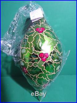 Christopher Radko 1997 Regency Santa Ornament w Sleeve Box Tag SEALED