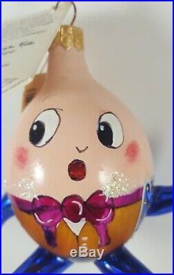Christopher Radko 1998 Humpty Dumpty Glass Christmas Ornament