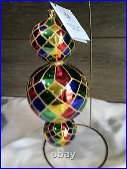 Christopher Radko 2000 15 th Anniversary Triple Harlequin Very Rare