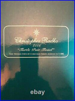 Christopher Radko 2005 Ornament Turtle Dove Finial Christmas Tree Topper