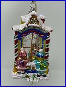 Christopher Radko 2005 Workshop Wonder Santa Window Glass Ornament 1011605