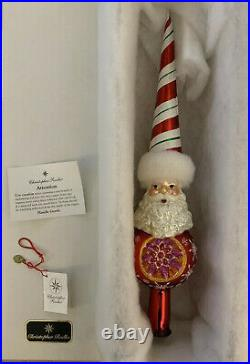Christopher Radko 2006 Dandy Stripe Santa Finial Tree Topper Christmas Ornament