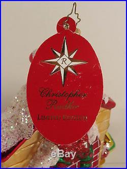 Christopher Radko 2007 LE Santa Fireplace Mantle Ornament 1450/1500 Hang Tag