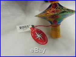 Christopher Radko 20th Anniversary Ornament 11 Holiday Harlequin Finial NWT Ret