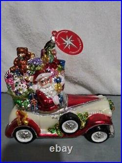 Christopher Radko 20th Anniversary Santa Rolls in Ornament RARE
