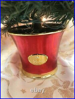 Christopher Radko 27 Imitation Christmas Tree, Red Base & 14 Ornaments! X-rare