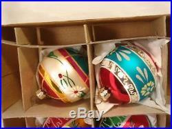 Christopher Radko 6 Fantasia Grandmas Own Vintage Glass Christmas Ornaments #1