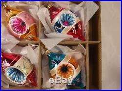 Christopher Radko 6 Fantasia Grandmas Own Vintage Glass Christmas Ornaments #2