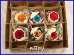 Christopher Radko 6 Fantasia Grandmas Own Vintage Glass Christmas Ornaments #3