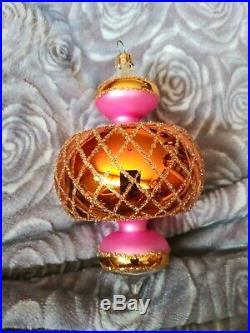 Christopher Radko 93-302-0 Jumbo Spintops Blown Glass Christmas Ornament 6 1/2