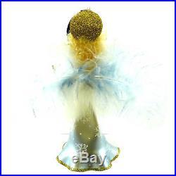 Christopher Radko ANGELIC GLOW Blown Glass Ornament Italian Italy Angel