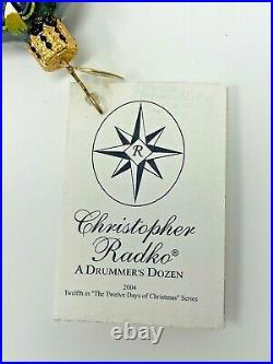 Christopher Radko A Drummer's Dozen Twelve Days of Christmas Ornament 1011279