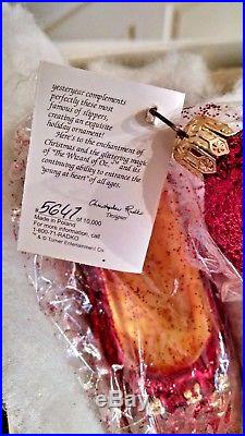 Christopher Radko A PAIR OF RUBY RED SLIPPERS Ornament! Wizard of Oz 1997 WOW