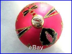 Christopher Radko Alpine Blush Ball Christmas Ornament 860400 Vintage Box 1986
