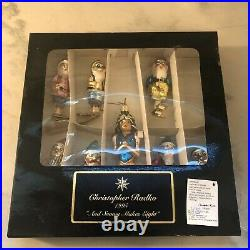 Christopher Radko And Snowy Makes 8 Limited Edition Set Of Ornaments/1995