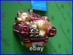 Christopher Radko Armchair Dog Glass Ornament