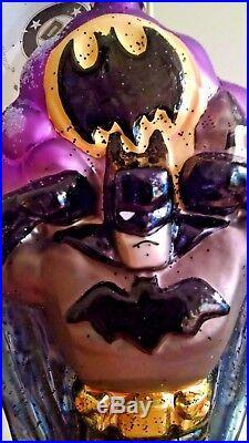 Christopher Radko BATMAN Super Hero Gotham Ornament Radko Box LTD ED 571/7500