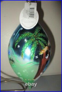 Christopher Radko BETHLEHEM STARLIGHT Teardrop Christmas Ornament New 1011755