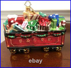 Christopher Radko B&O Railroad Collection Set Of 12 Glass Ornaments Limited Ed