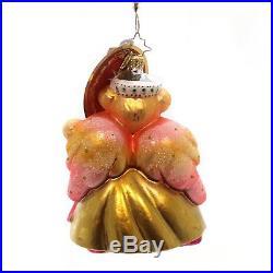 Christopher Radko Baroque Muffy VanderBear Pink Christmas Ornament