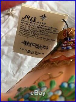 Christopher Radko Blown Glass Ornament Carousel Of Dreams Rare 1968/2500T1990s