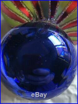Christopher Radko Blown Glass Ornament Globe T1990s