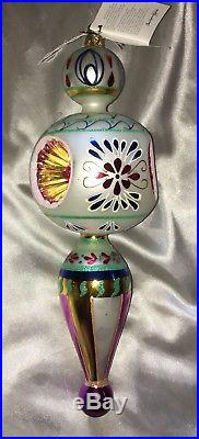 Christopher Radko Blue Danube 2000 Large Drop Finial Christmas Ornament With Tag