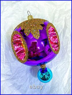 Christopher Radko Brilliantines Triple Reflector Indent Glass Ornament, #01-0991