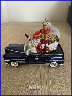 Christopher Radko Brooks Brothers Exclusive Santa in Car 2007 ornament. MIB