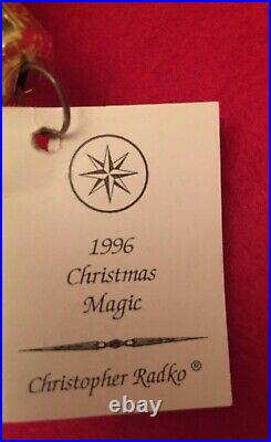 Christopher Radko CHRISTMAS MAGIC Santa1996 Starlight Exclusive for Members NEW