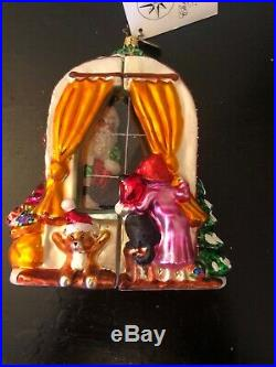 Christopher Radko'CLAUS ENCOUNTERS' Ornament/Santa Peering Through Window New