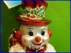 Christopher Radko Chappy O'Snow Glass Ornament