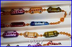 Christopher Radko Christmas Express Train 6' Garland Glass Ornament Blown