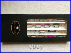 Christopher Radko Christmas Express Train Garland Glass Ornament 93.394.2 Blown