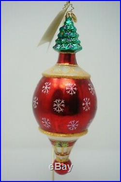 Christopher Radko Christmas Grandeur Glass Tree Presents Ornament 02-0049-0