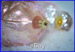 Christopher Radko Christmas Ornament 1994 SUGAR CONE Pine Cone Owls STARLIGHT EX