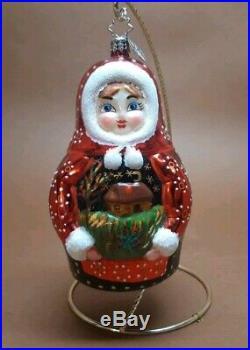 Christopher Radko Christmas Ornament 2005 KATRINA Matryoshka Nesting Doll RARE
