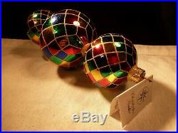 Christopher Radko Christmas Ornament 9.5 Triple Harlequin Christophers Favorites